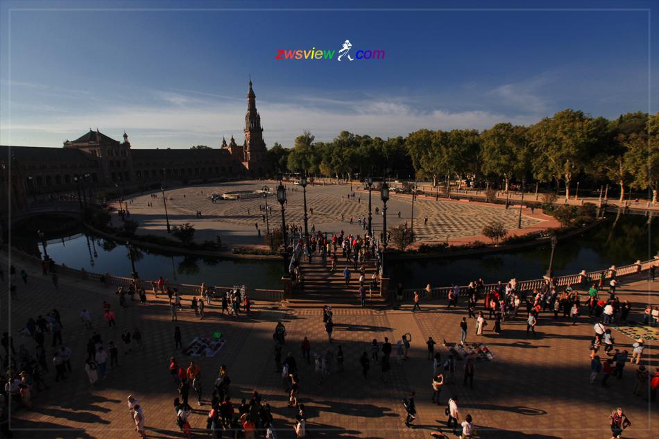 塞维利亚的西班牙广场