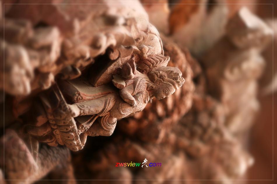 尼泊尔神庙建筑木雕装饰